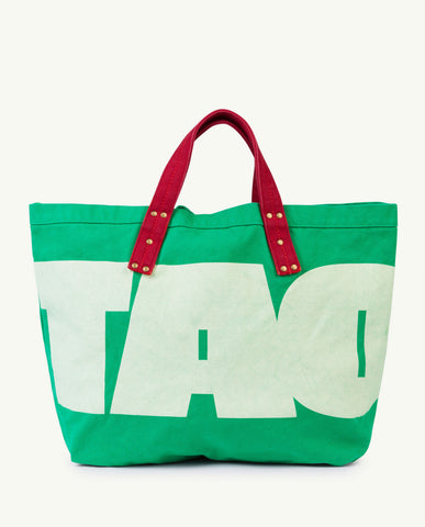 SMALL CANVAS TOTE BAG // GREEN