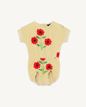 Koala Baby Jumpsuit - Yellow Flowers