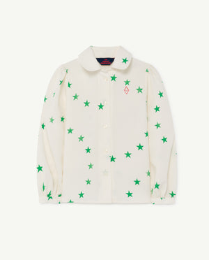 Gadfly Kids Blouse - White Stars