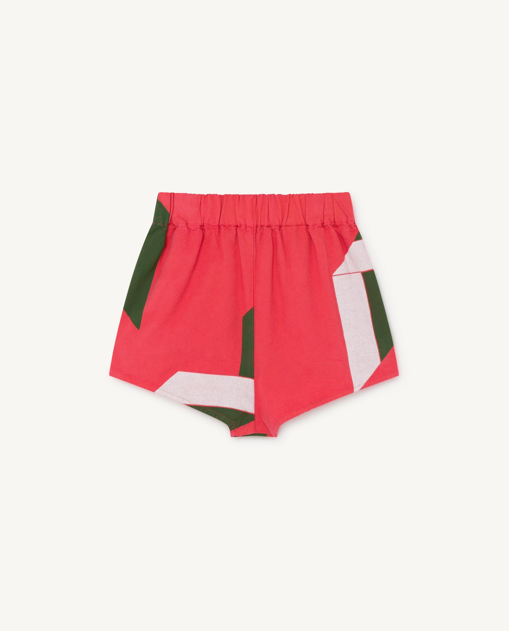 Clam Kids Short - Red Geometric