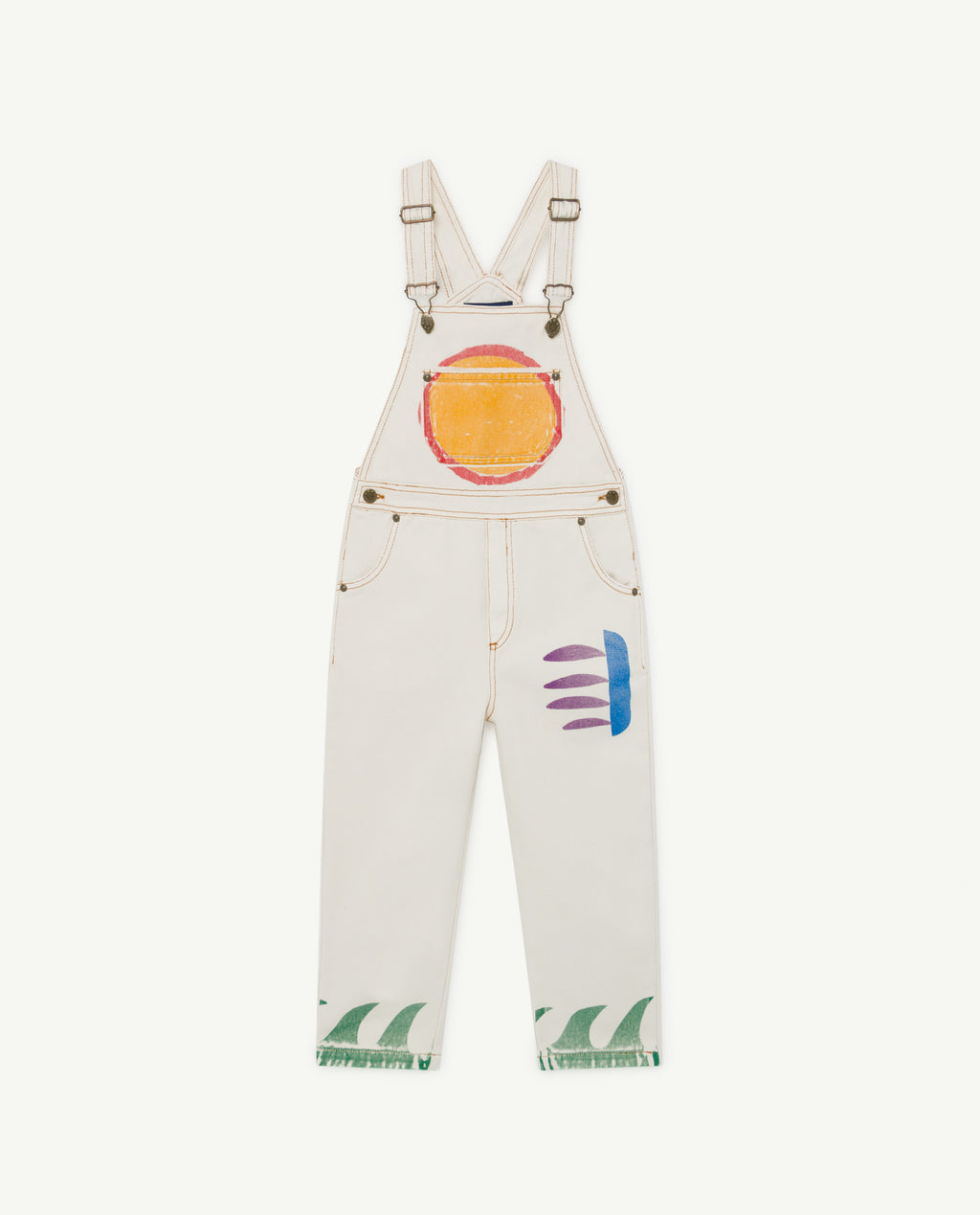Mule Kids Dungaree - White Sun