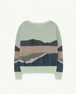 Sunrise Bull Kids Sweater - Soft Green
