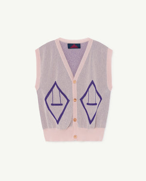 Bat Kids Vest - Soft Pink