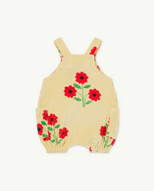 Boar Baby Dungaree - Yellow Flowers