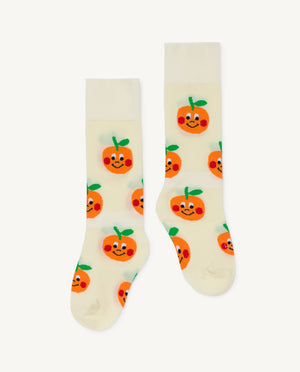 Hen Kids Socks - Raw White