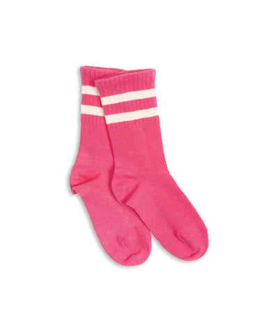 Stripe sock - pink