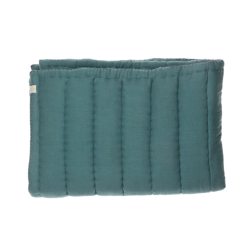 Hand quilted blanket - Teal - KID - 1