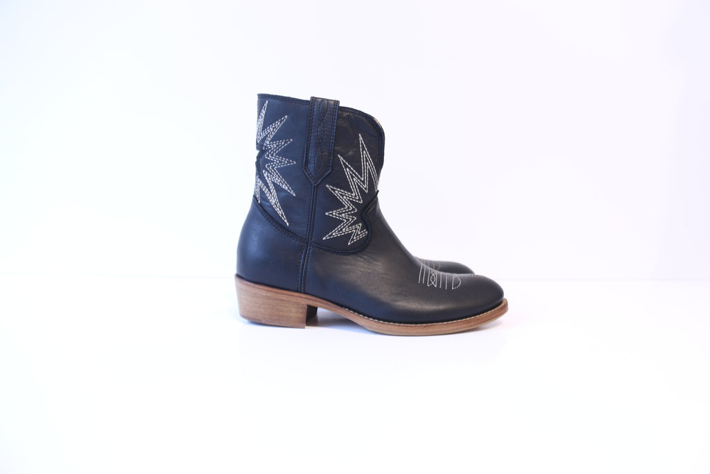 Cowboy Boots - Black/Mirror Star