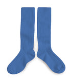 Knee high socks - cobalt