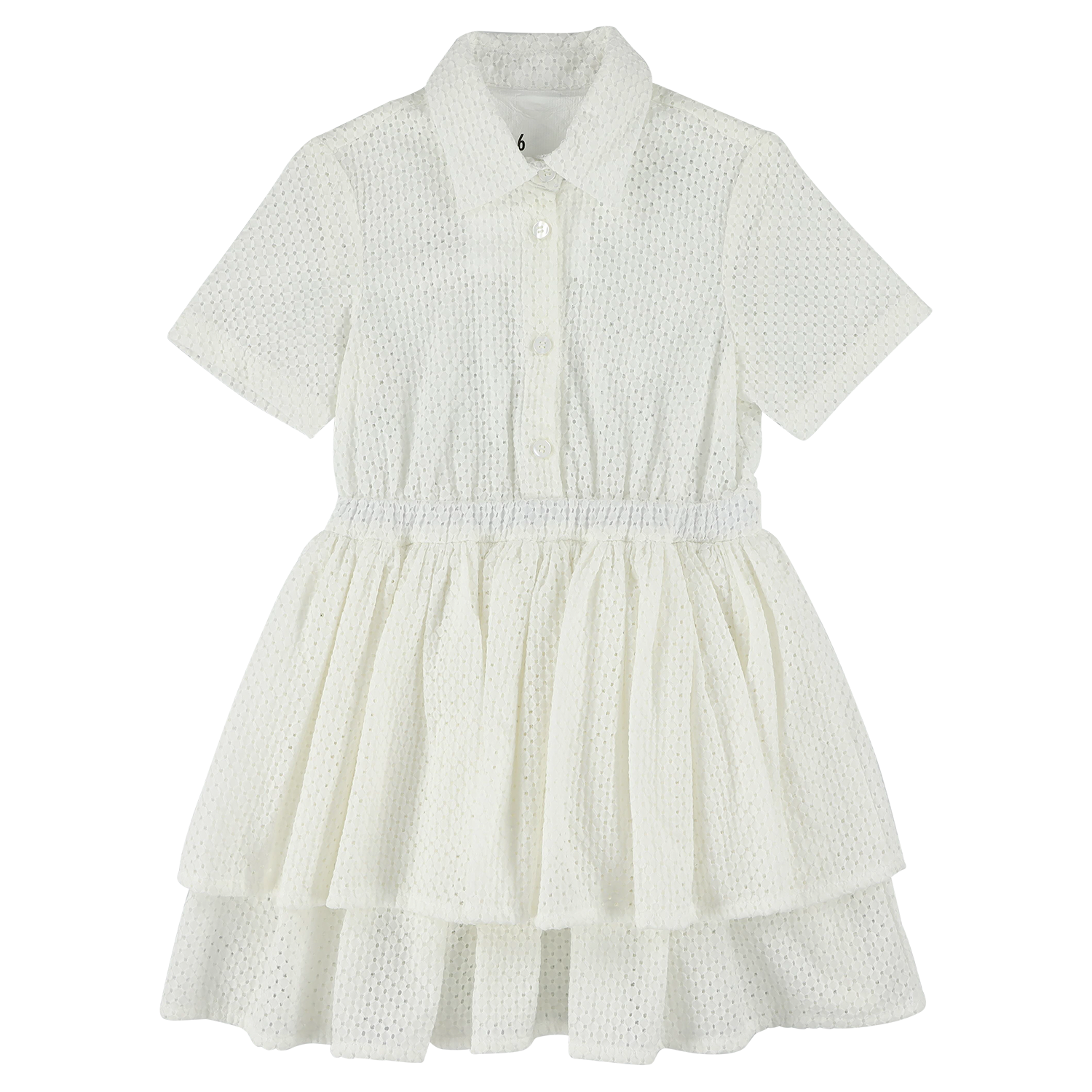 Layered Dress - Broderie White