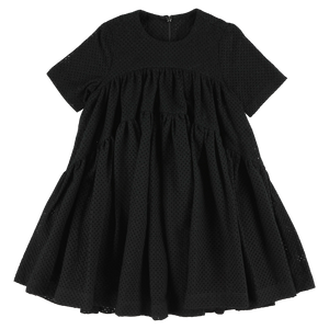 Wide Dress - Broderie Black