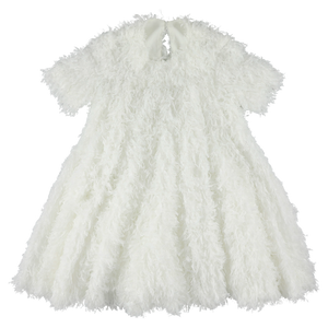Wide Dress - Frill White