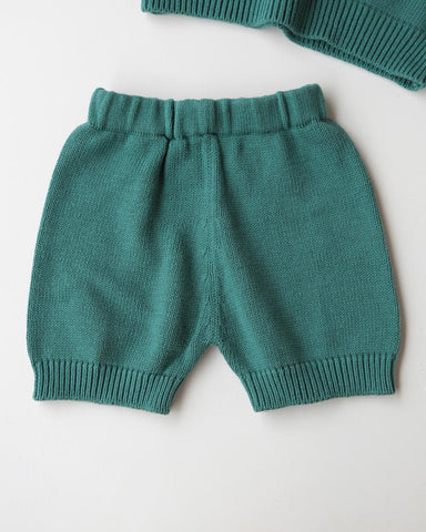 COTTON KNIT SHORTS // EMERALD