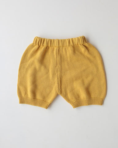 COTTON KNIT SHORTS // SUNSHINE