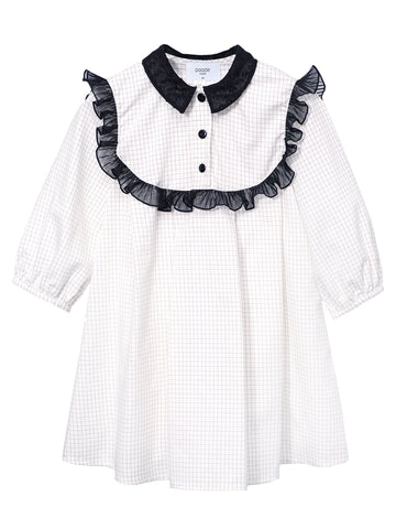Checkered Tunic Connie - White