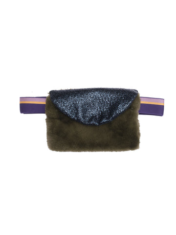 Faux Fur Bag Joplin - Green
