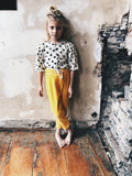 Yellow corduroy trousers
