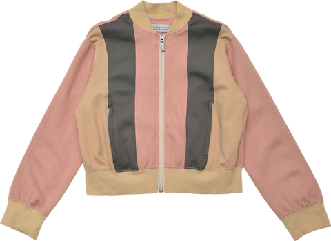 Trichromatic jacket // Pink, grey, beige