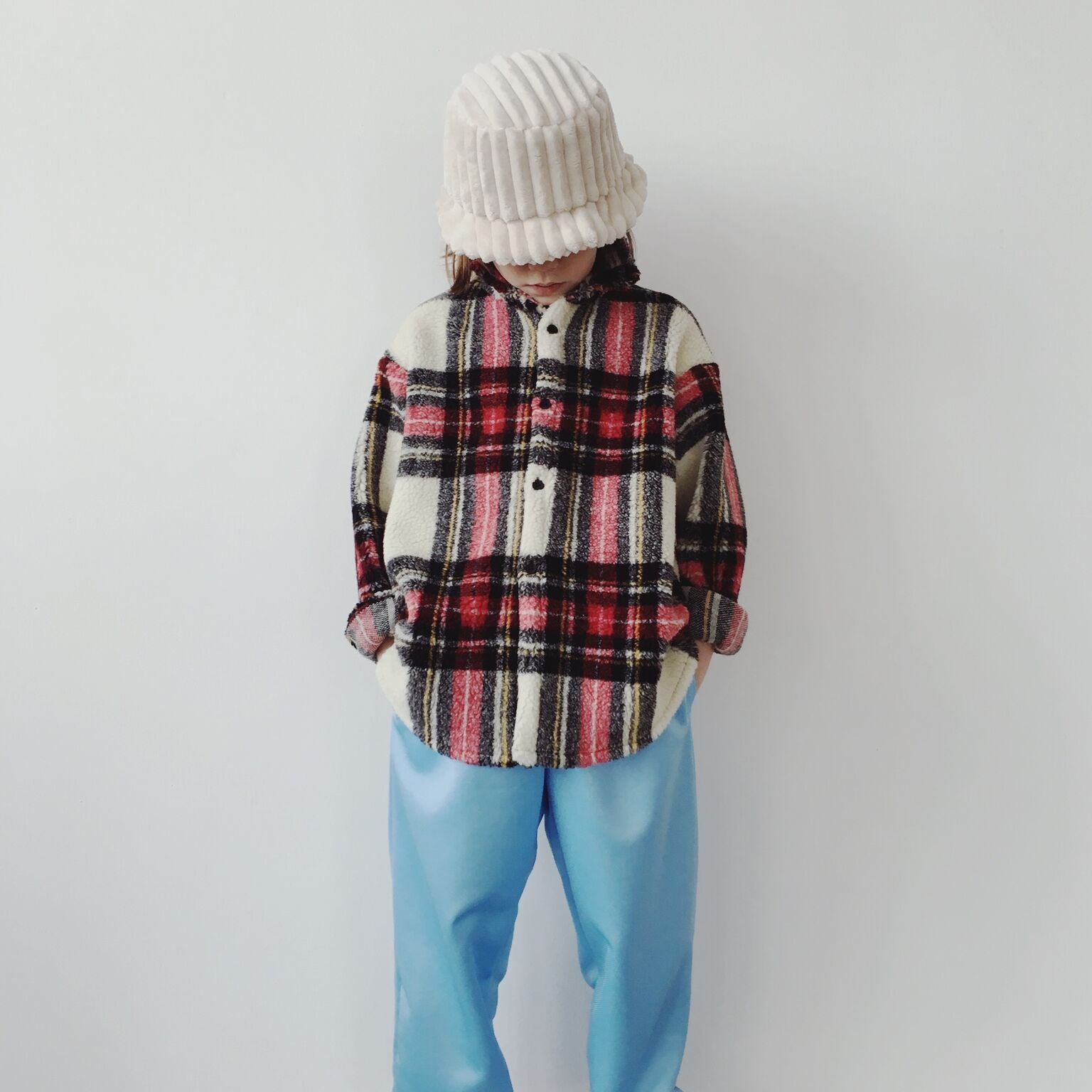Checked Shirt - Teddy Off White