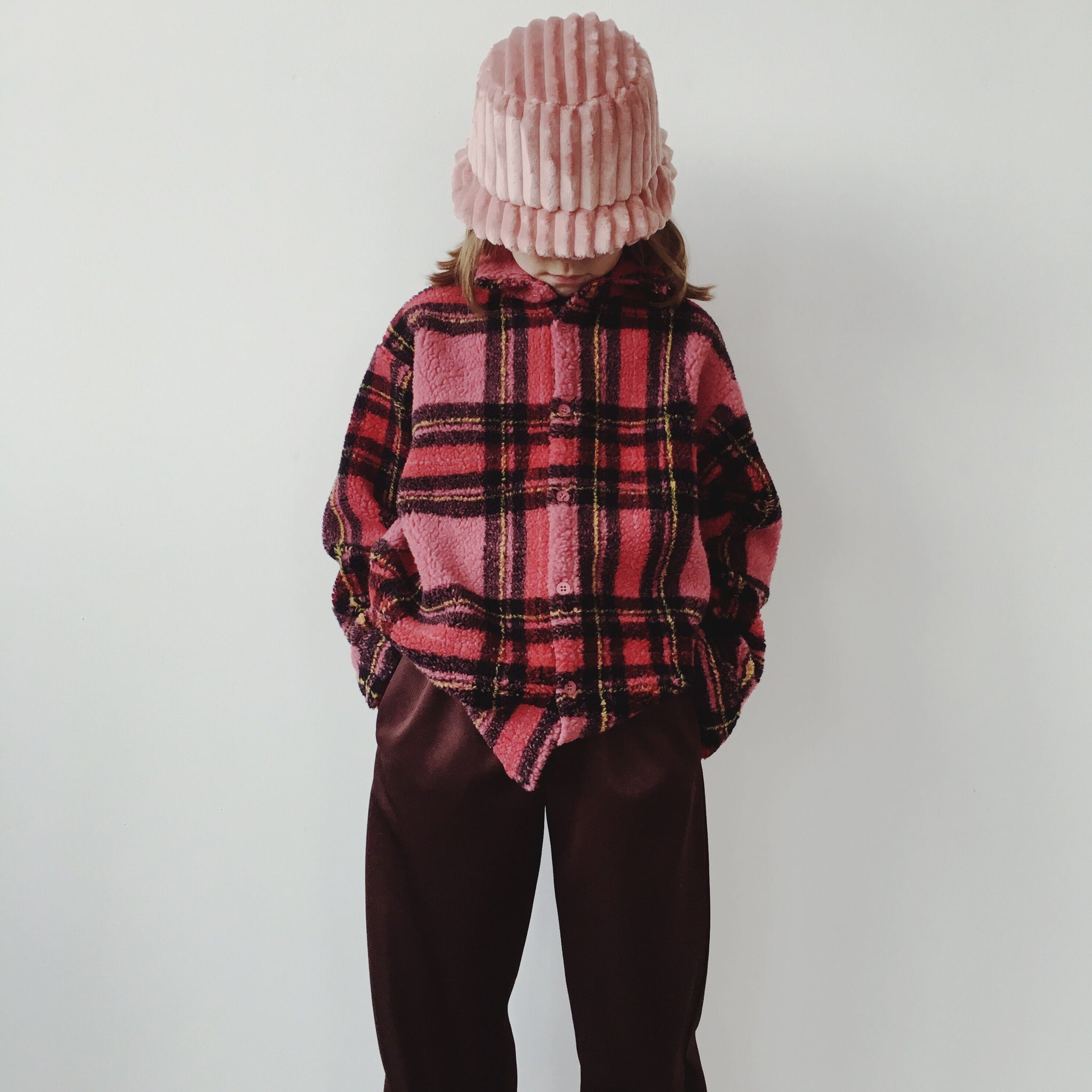 Checked Shirt - Teddy Pink
