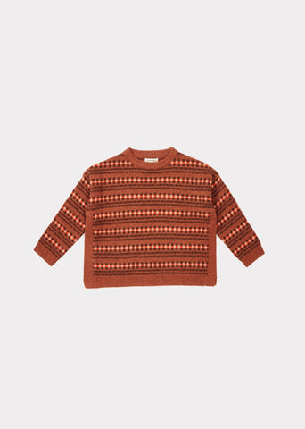Chinchilla Jumper - Rust Fairisle