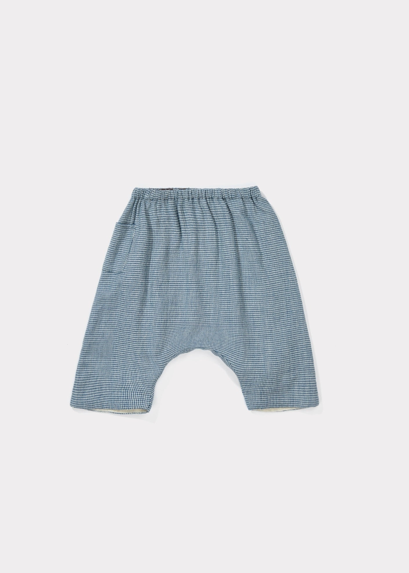 Lizard Baby Trouser - Blue Micro Check