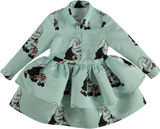 Printed dress - aqua dwarf