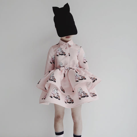 Printed dress - pink dwarf