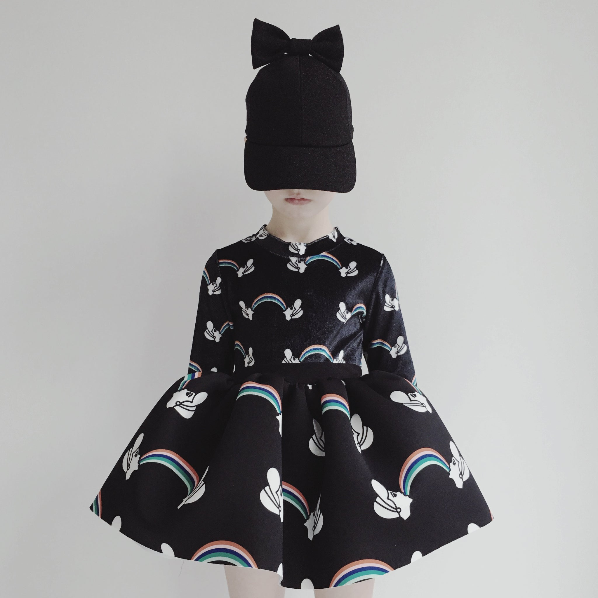 Printed miniskirt - Rainbow Princess Black