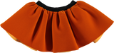 Velvet mini skirt - Orange