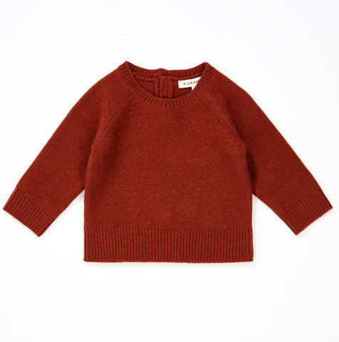 Hector Cashmere Baby Jumper - Rust