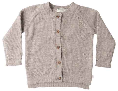 Copenhagen round neck wool cardigan - walnut