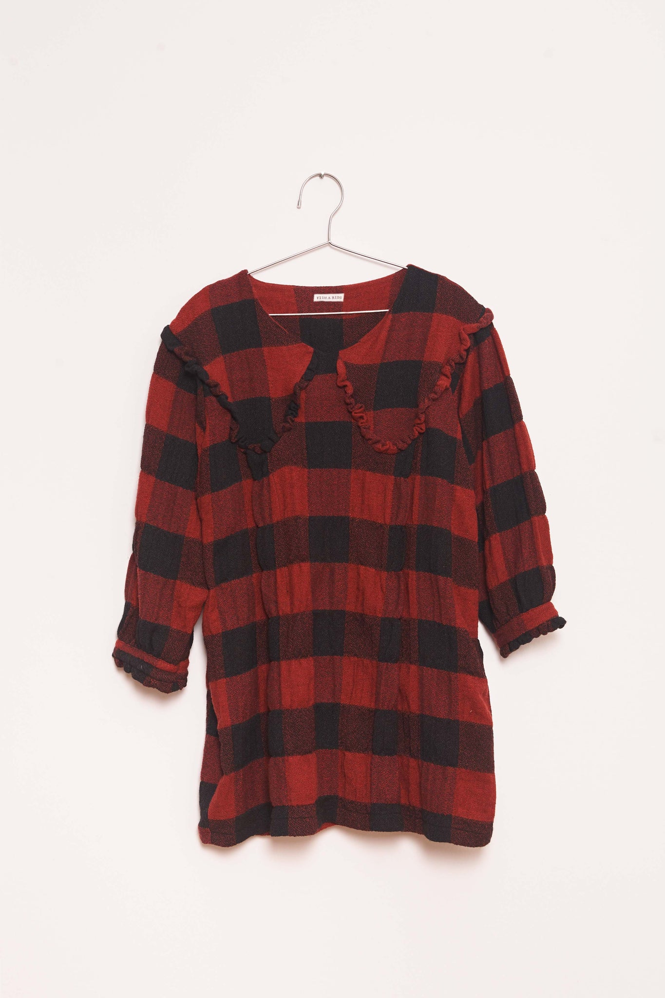 Checks Dress - Red/Black