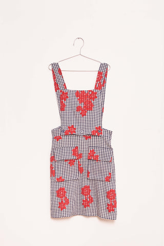 Flower Apron - Navy