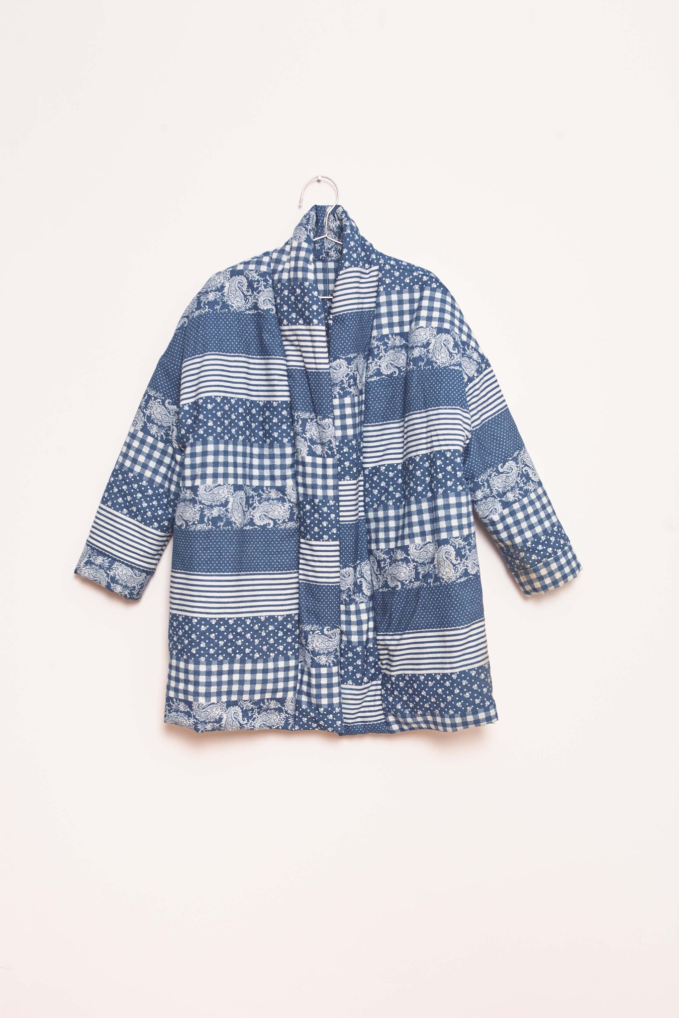 Patchwork Coat - Indigo