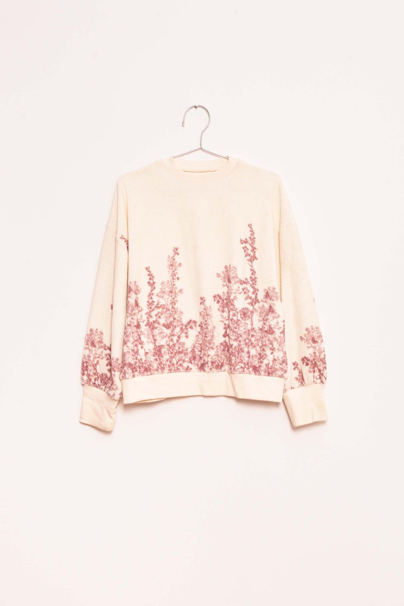 Towel Flower Sweatshirt