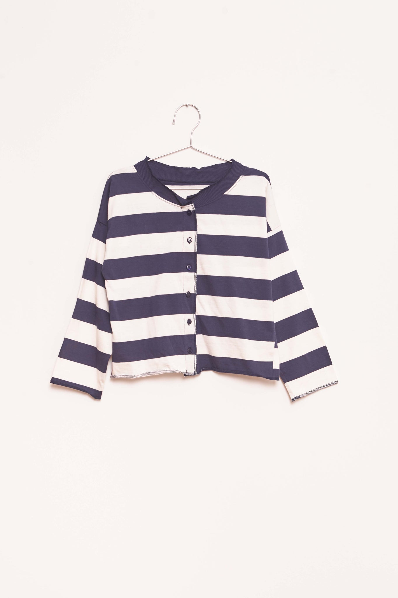 Stripes Cardigan - White/Navy
