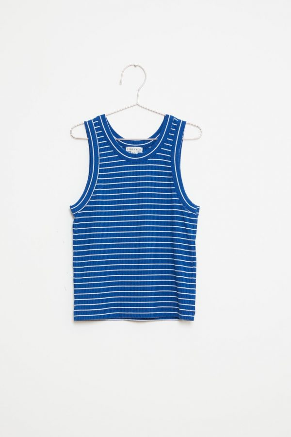 Stripes Tank Top - Navy/White