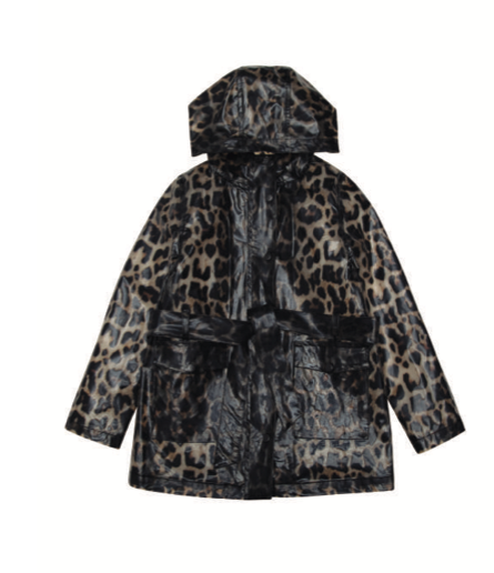 Katy Rain Trench Coat - Leopard