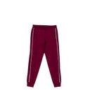 Casey pants - burgundy/white piping