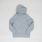Nike brushed fleece hoodie - grey melange - KID - 1