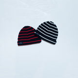 Striped beanie - navy/cream - KID - 3