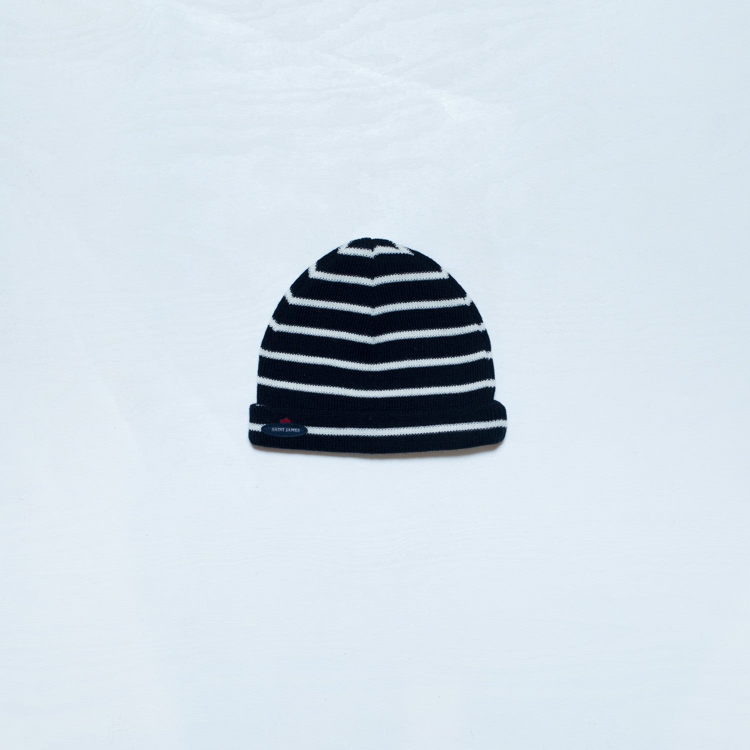 Striped beanie - navy/cream - KID - 1
