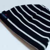 Striped beanie - navy/cream - KID - 2