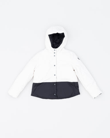 Reversible girl jacket short - black/white