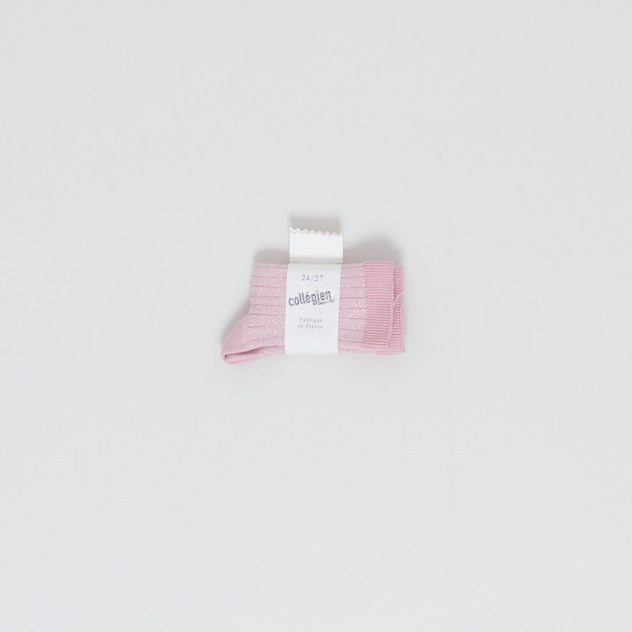 Lurex socks - pink - KID - 1