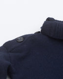 Sydni neck sweater - navy