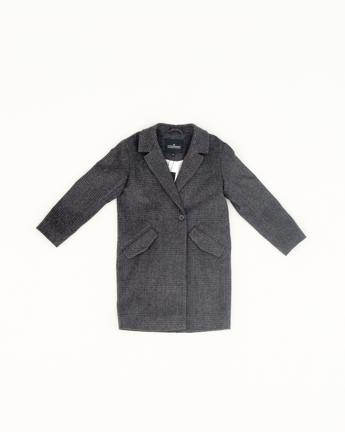 Corey coat - grey black check