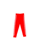 Damon Check Pants - Lipstick Red