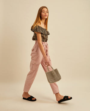 Judy cargo trousers - Soft Pink